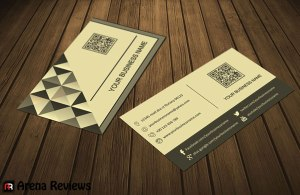 Black and White Pixel Mosaic Business Card